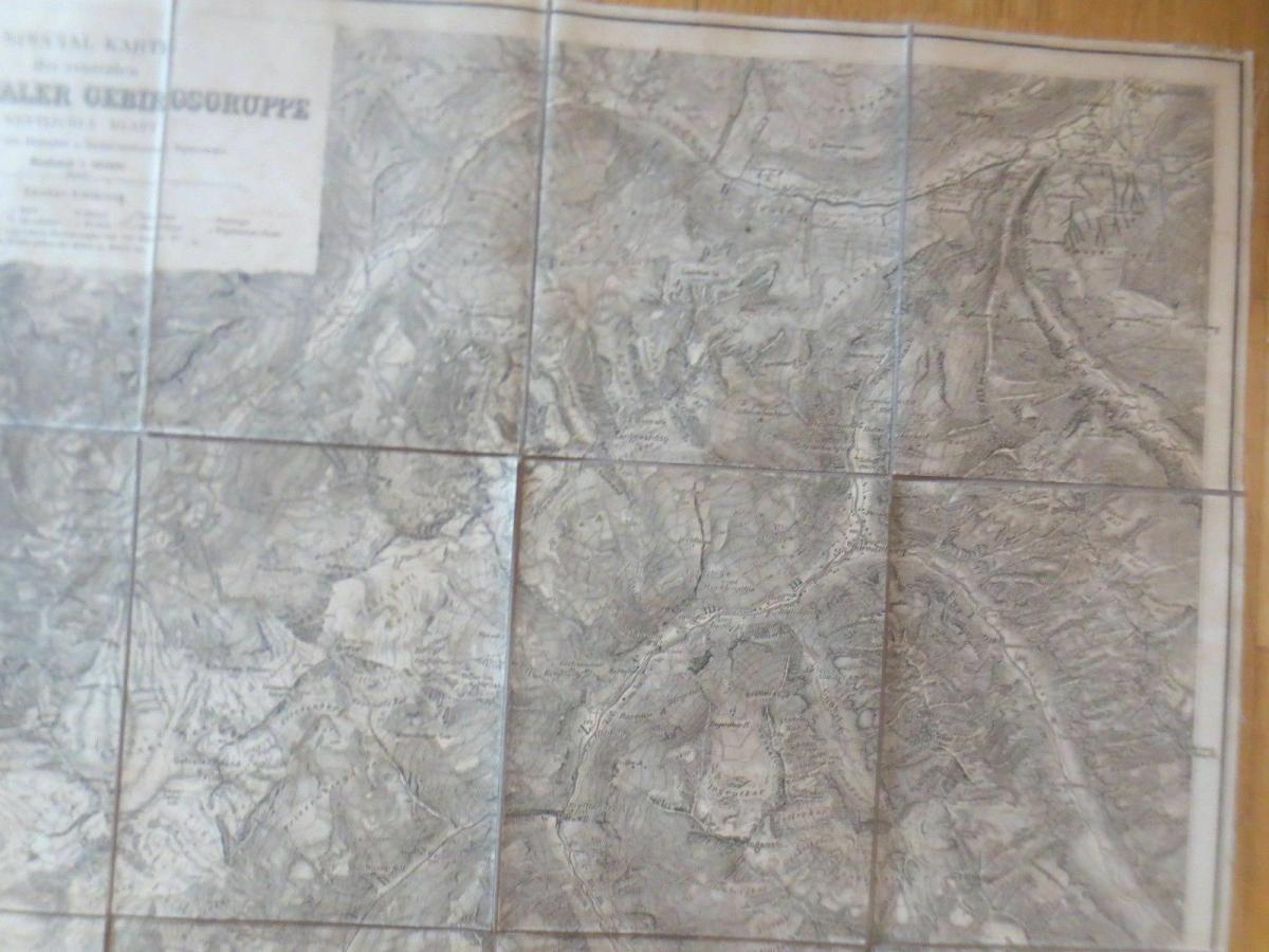Landkarte, Spezialkarte Zillerthaler Gebirgsgruppe Jahr 1900  ♥ 4