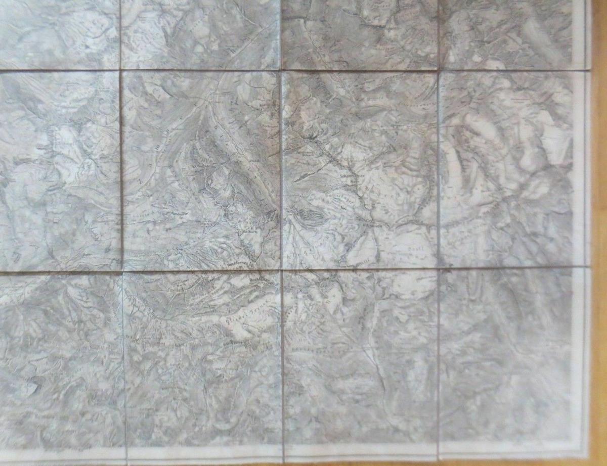 Landkarte, Spezialkarte Zillerthaler Gebirgsgruppe Jahr 1900  ♥ 6