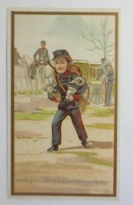 Kaufmannsbilder, Soldat, Dosen, Front,  1900  ♥