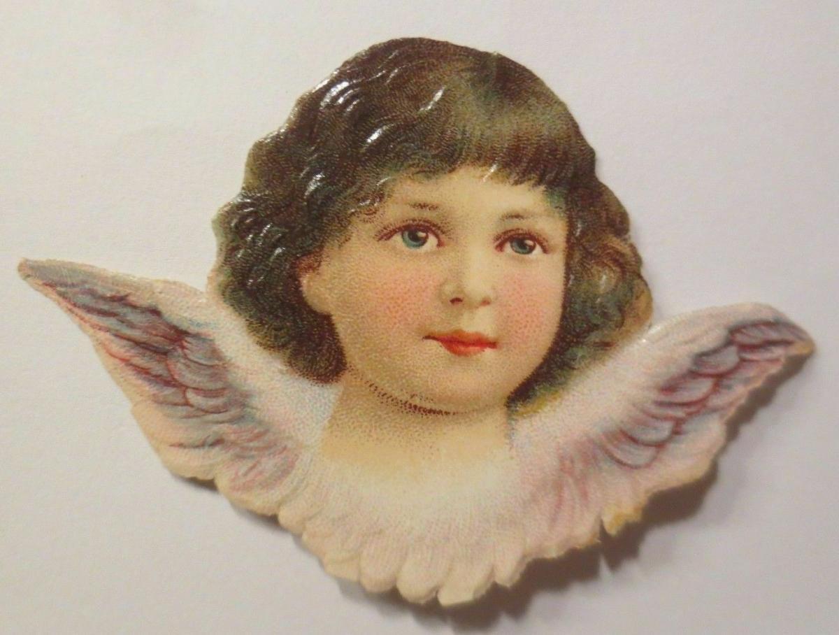Oblaten, Engel,      1900,   7,5 cm x 5 cm ♥ 0