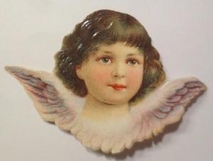 Oblaten, Engel,      1900,   7,5 cm x 5 cm ♥