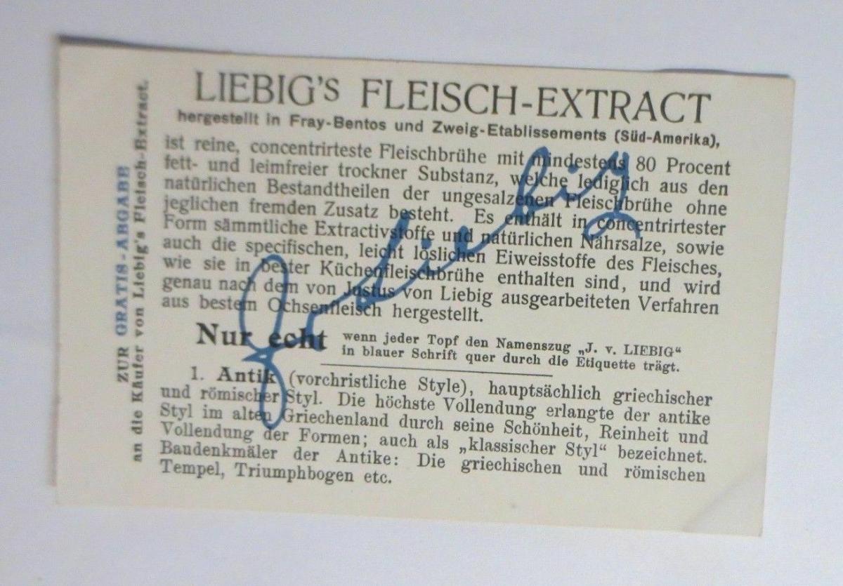Liebig, Serie 538, Kunststile, Antik  ♥ 1