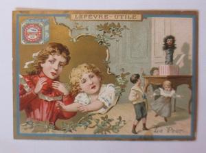 Kaufmannsbilder, Lefevre-Utile, Kinder, Mode, Spielen,   1910 ♥