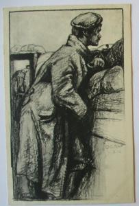 Künstlerkarte Zentralbücherstelle der 6. Armee, sign. O. Graf (51117)
