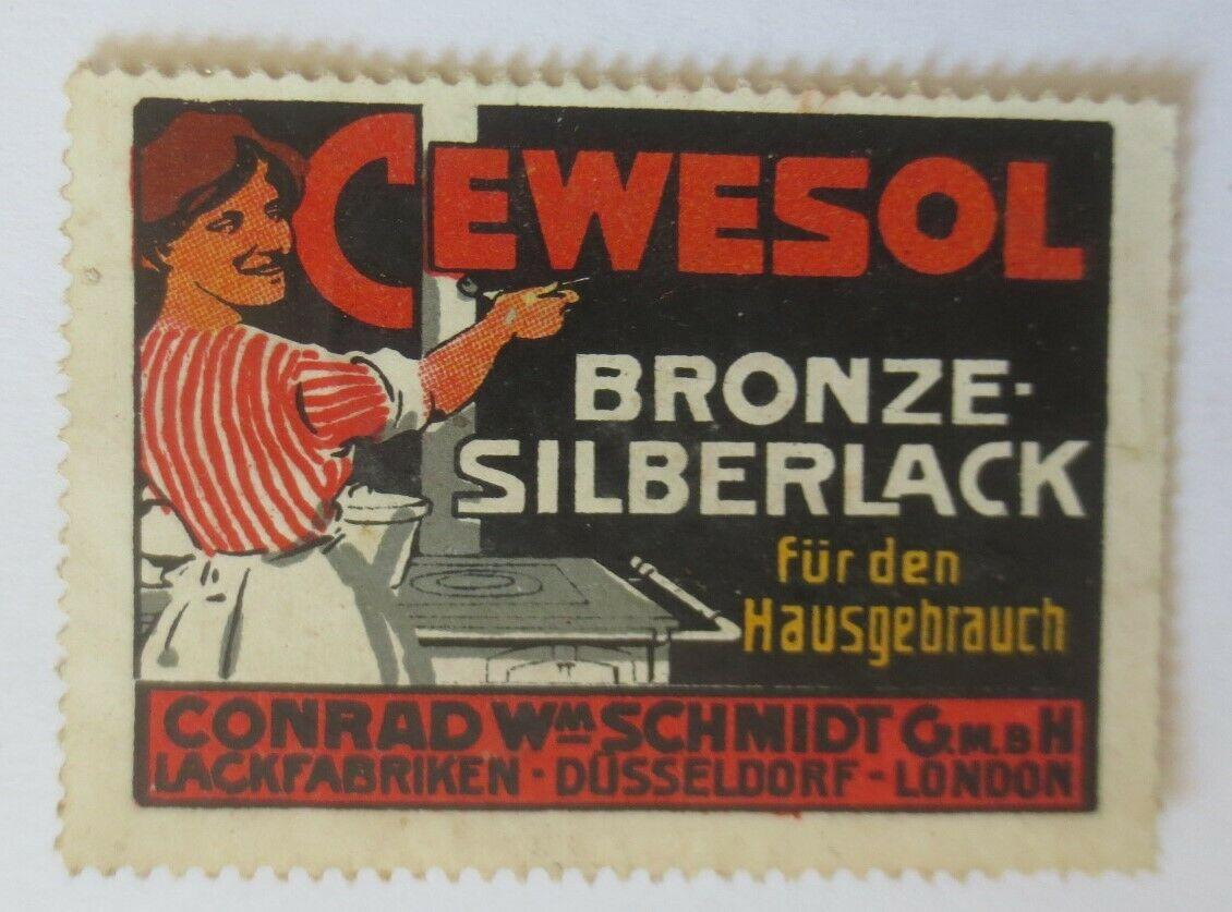 Vignetten Cewesol Bronze-Silberlack W. Schmidt  Lackfabrik Düsseldorf ♥ (58276) 0