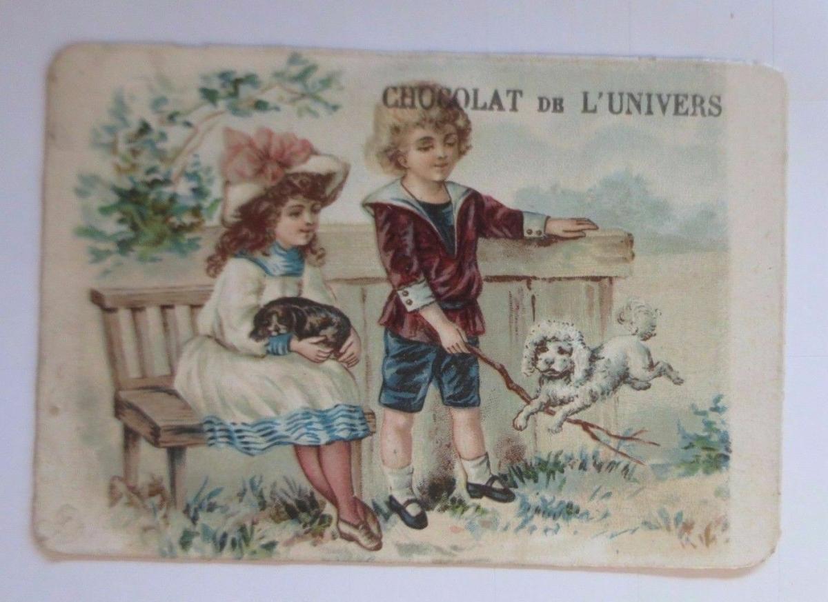 Kaufmannsbilder, Chocolat de l´Univers, Kinder,Mode, Hund,  1910 ♥ 0