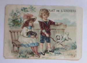 Kaufmannsbilder, Chocolat de l´Univers, Kinder,Mode, Hund,  1910 ♥