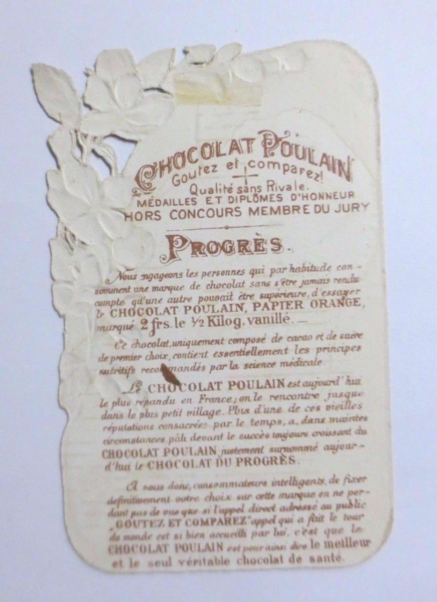 Kaufmannsbilder, Oblaten, Chocolat Poulain,  Kinder, Netz,  1845 ♥ 1