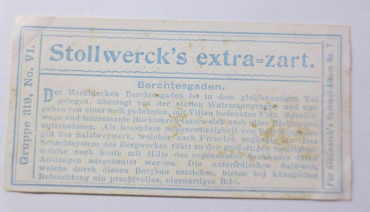 Stollwerck, Gruppe 319,  Nr.6,   Album  Nr.7,  Salzkammergut ♥ (5781) 1