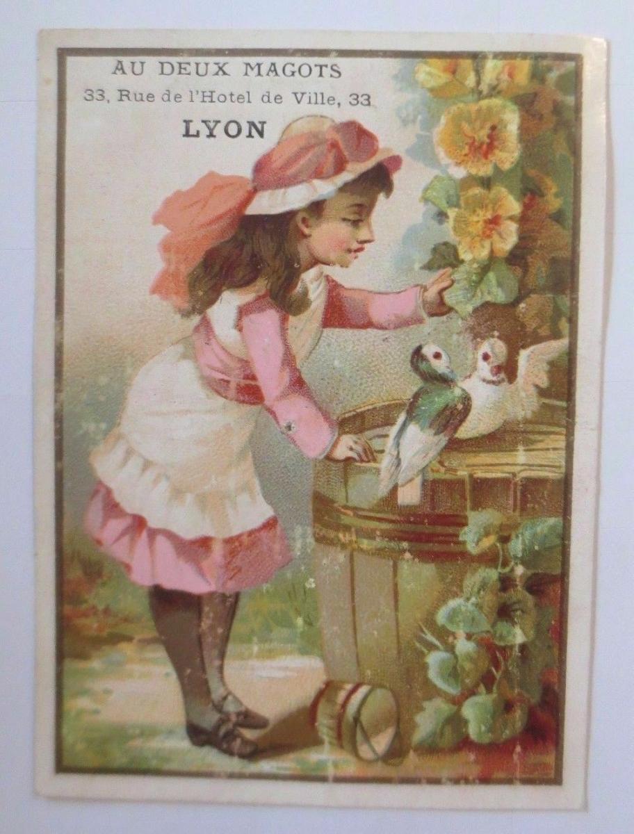 Kaufmannsbilder, Lyon,  Kinder, Tauben,  1910 ♥ 0