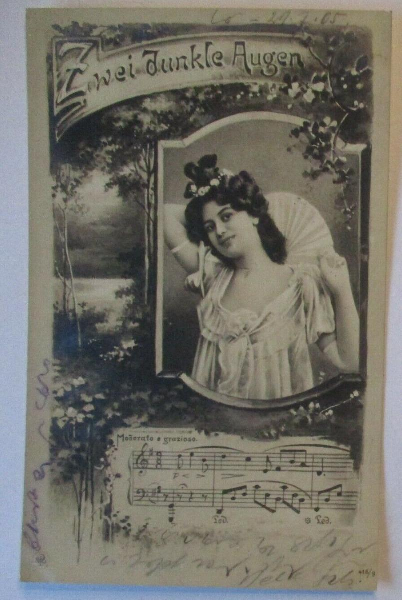Musik Frau Lied, Zwei dunkle Augen 1905 (39358) 0