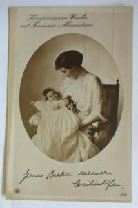 Adel, Kronprinzessin Cecilie mit Prinzessin Alexandrine 1912 ♥ (57751)