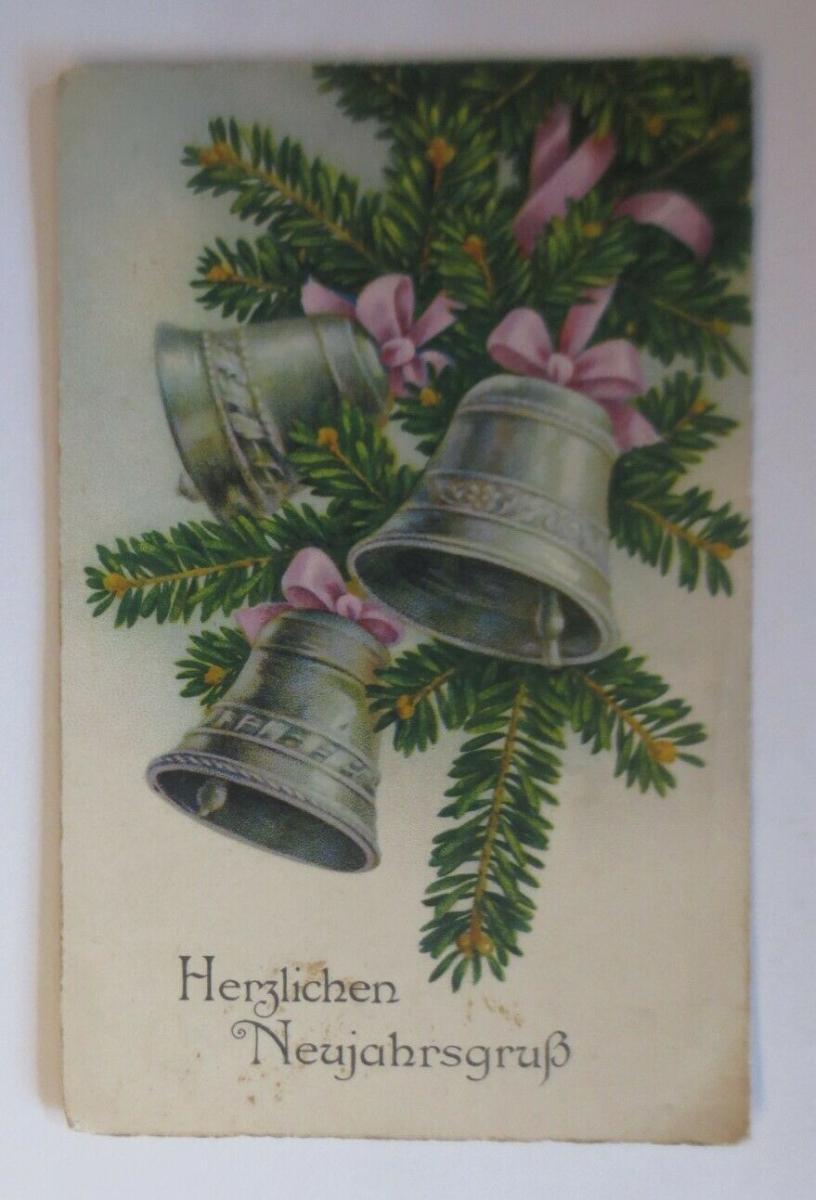 Neujahr, Tannenzweig, Glocken,   1934 ♥ (48273) 0