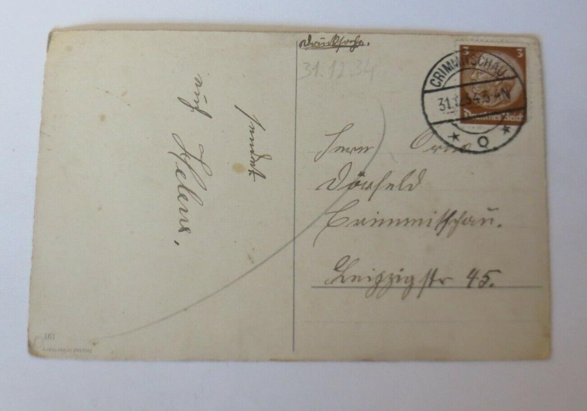Neujahr, Tannenzweig, Glocken,   1934 ♥ (48273) 1