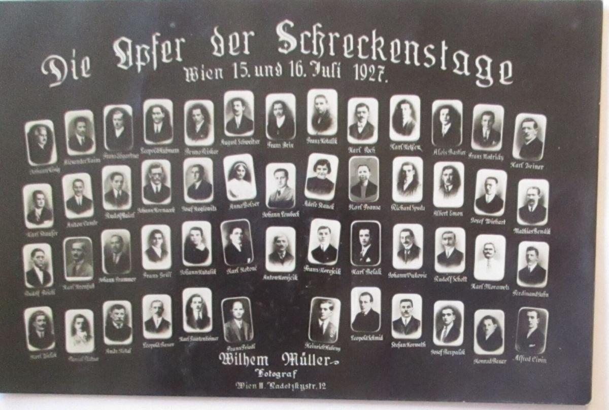 Österreich Wien Unruhen 1927, Die Opfer der Schreckenstage (50480) 0