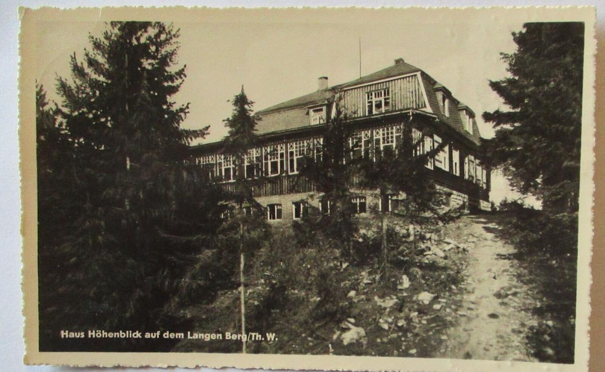 Haus Höhenblick auf dem Langen Berg in Thüringen 1950 (19568) 0