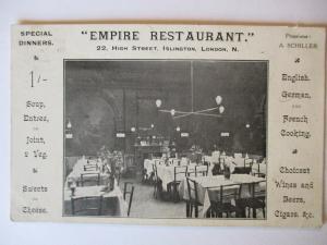 London, Empire Restaurant A. Schiller, 1914  (16721)