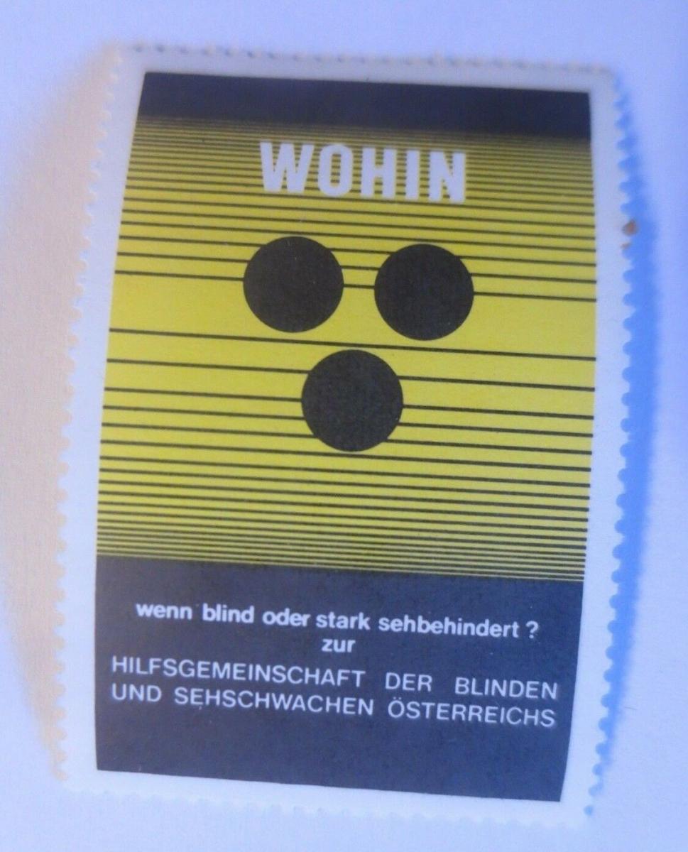 Vignetten, Hilfsgemeinschaft der Blinden in  Österreich 1913  ♥ (70436) 0