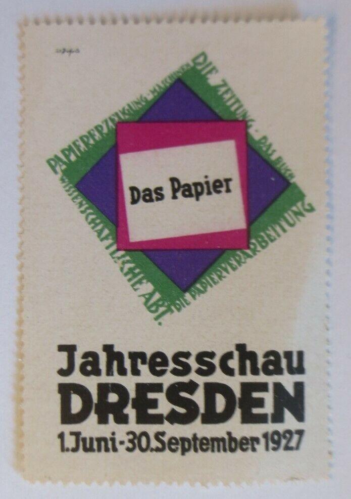 Vignetten Das Papier Jahresschau Dresden 1927  ♥ (21560) 0