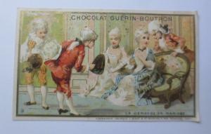 Kaufmannsbilder, Chocolat Guerin-Boutron, Paris, Kinder, Barock,  1889 ♥