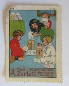Vignetten Tee-Kaffee A. Zuntz Bonn Berlin Hamburg   ♥(36479)