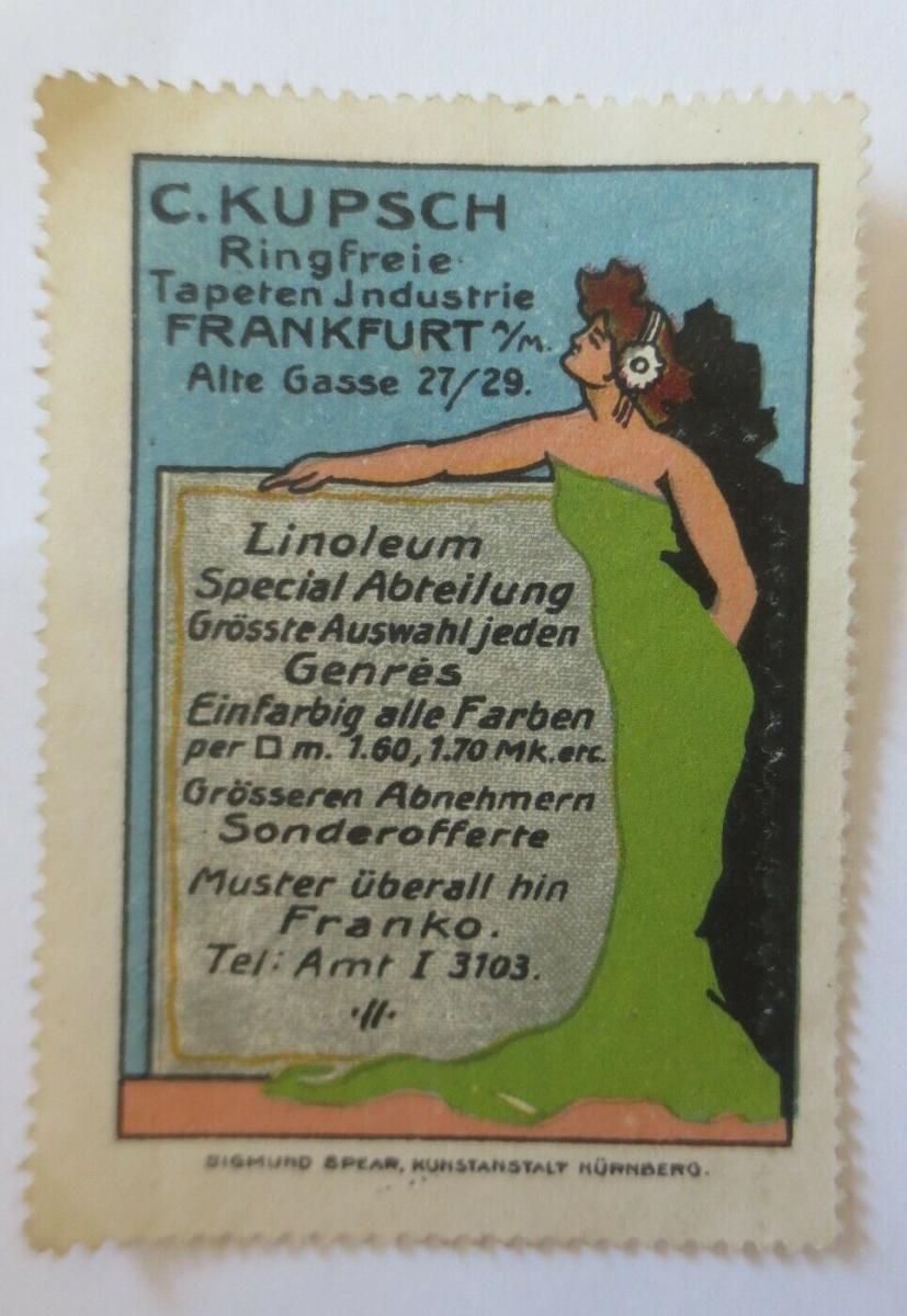 Vignetten Jugendstil C.Kupsch Ringfreie Tapeten Industrie Frankfurt a.M.♥(32346) 0