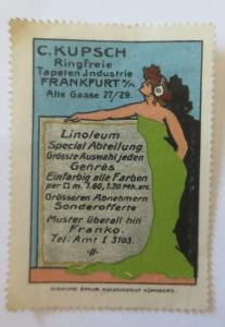 Vignetten Jugendstil C.Kupsch Ringfreie Tapeten Industrie Frankfurt a.M.♥(32346)