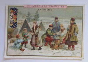 Kaufmannsbilder, Chicoree a la Francaise,  Sibirien, Lagerfeuer,  1910 ♥
