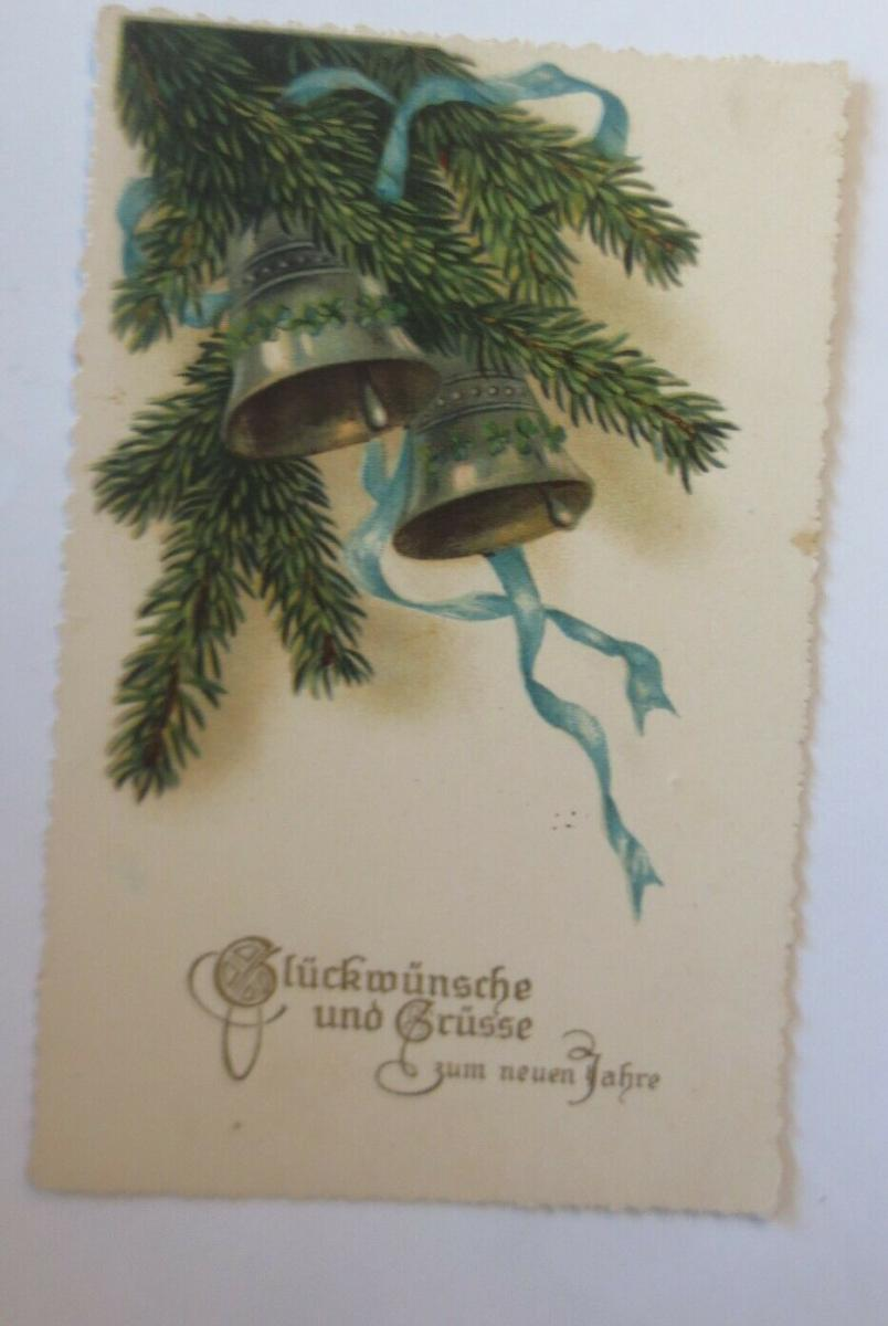 Neujahr, Glocken, Tannenzweige, 1930 ♥ (28716) 0