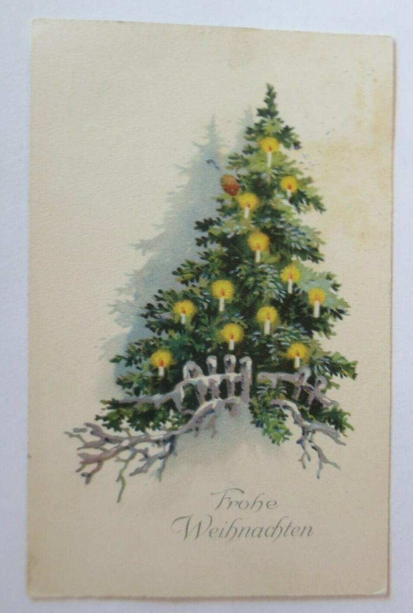 Weihnachten, Weihnachtsbaum, Kerzen,  1926 ♥ (49691) 0