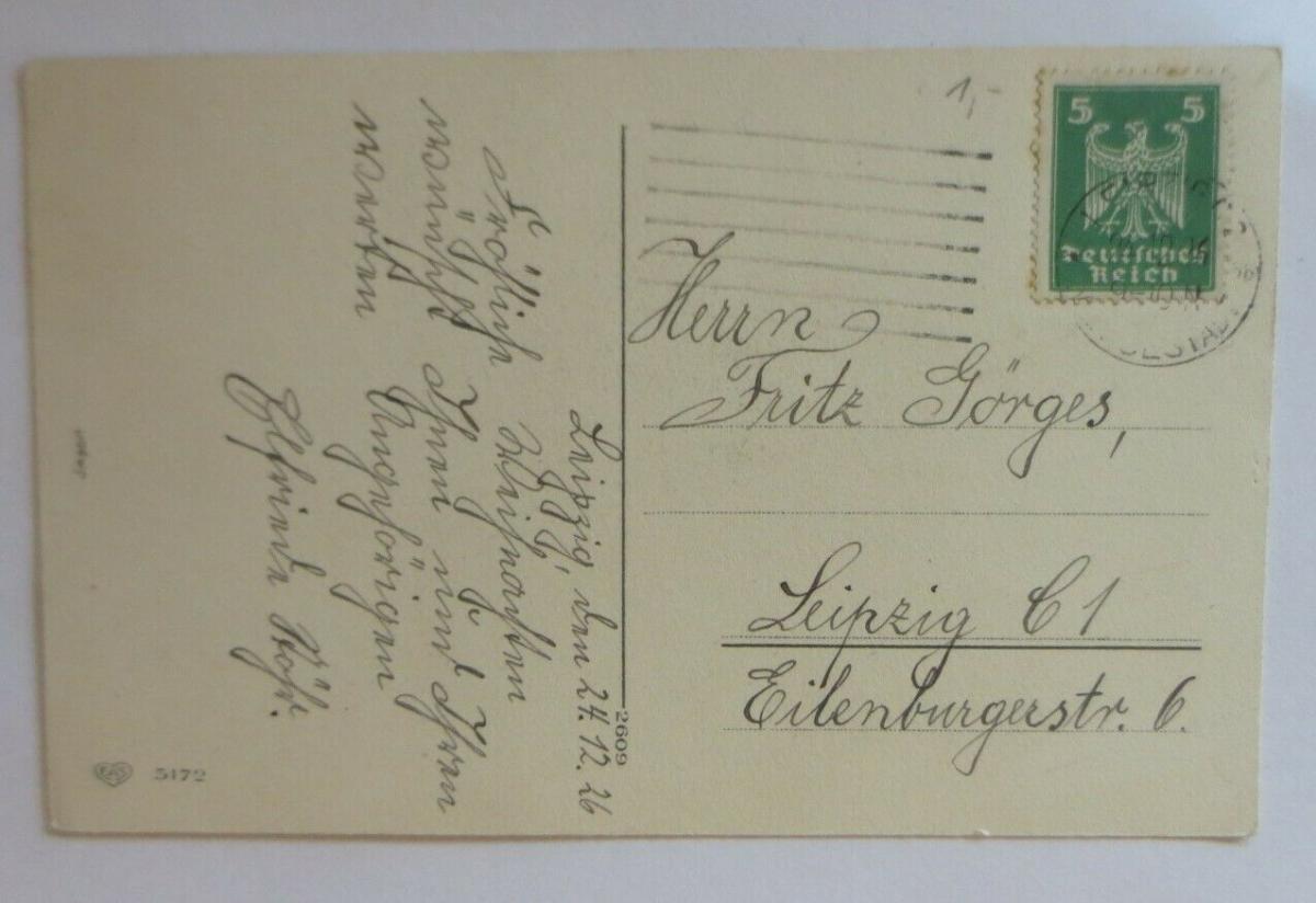 Weihnachten, Weihnachtsbaum, Kerzen,  1926 ♥ (49691) 1
