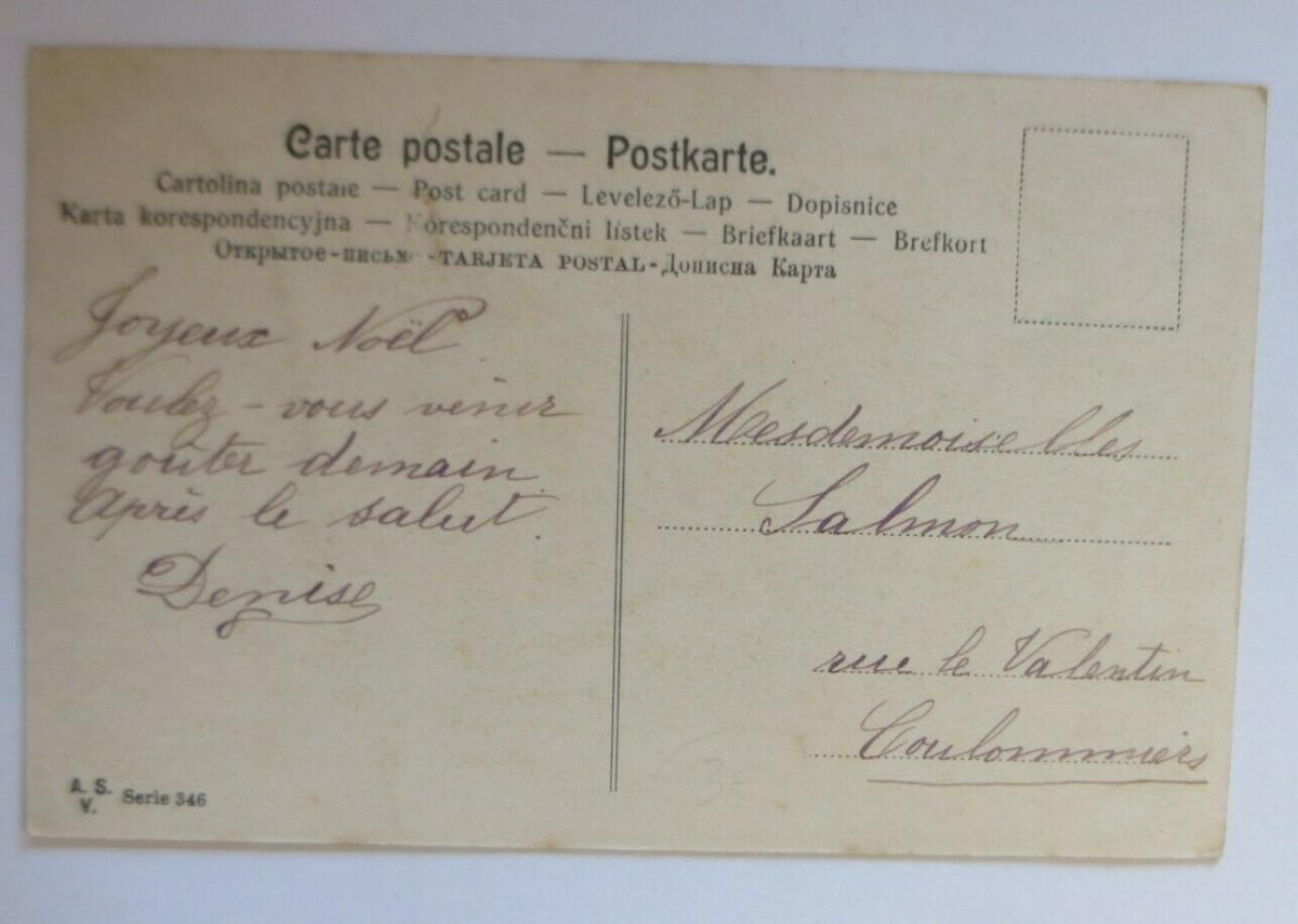 Neujahr, Frauen, Mode, Tannenzweig,  1900 ♥ (25963) 1