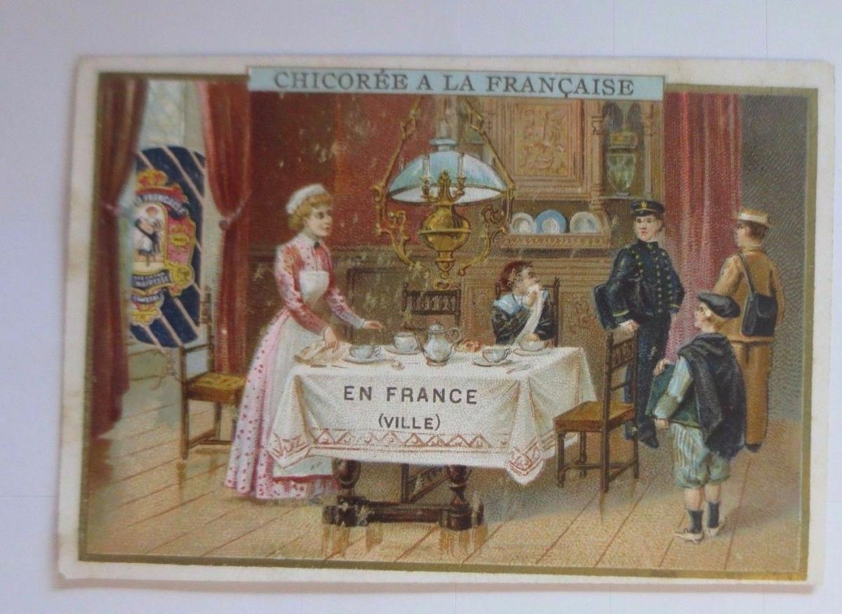 Kaufmannsbilder, Chicoree a la Francaise, Kinder, Schule, 1910 ♥ 0