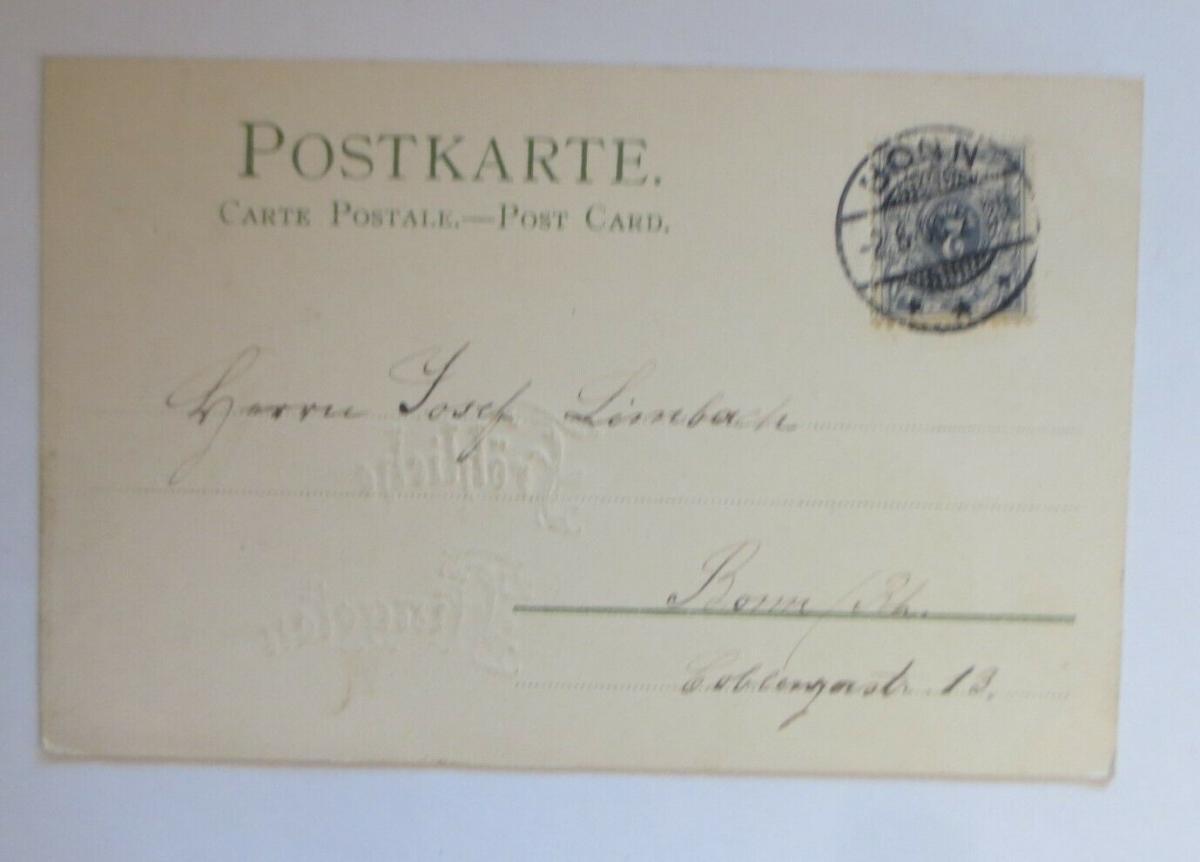 Pfingsten, Sonnenscheinkarte, Sonne, Landschaft,  1900, Golddruck  ♥ (25469) 1