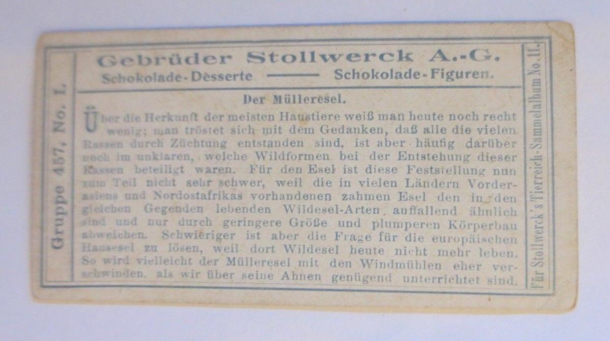 Stollwerck, Gruppe 457,  Nr. 1, Der Mülleresel, 1900 ♥ (3439) 1