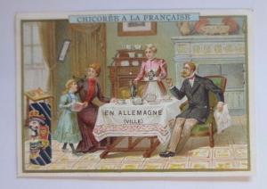 Kaufmannsbilder, Chicoree a la Francaise, Familie bei Kaffee, 1910 ♥