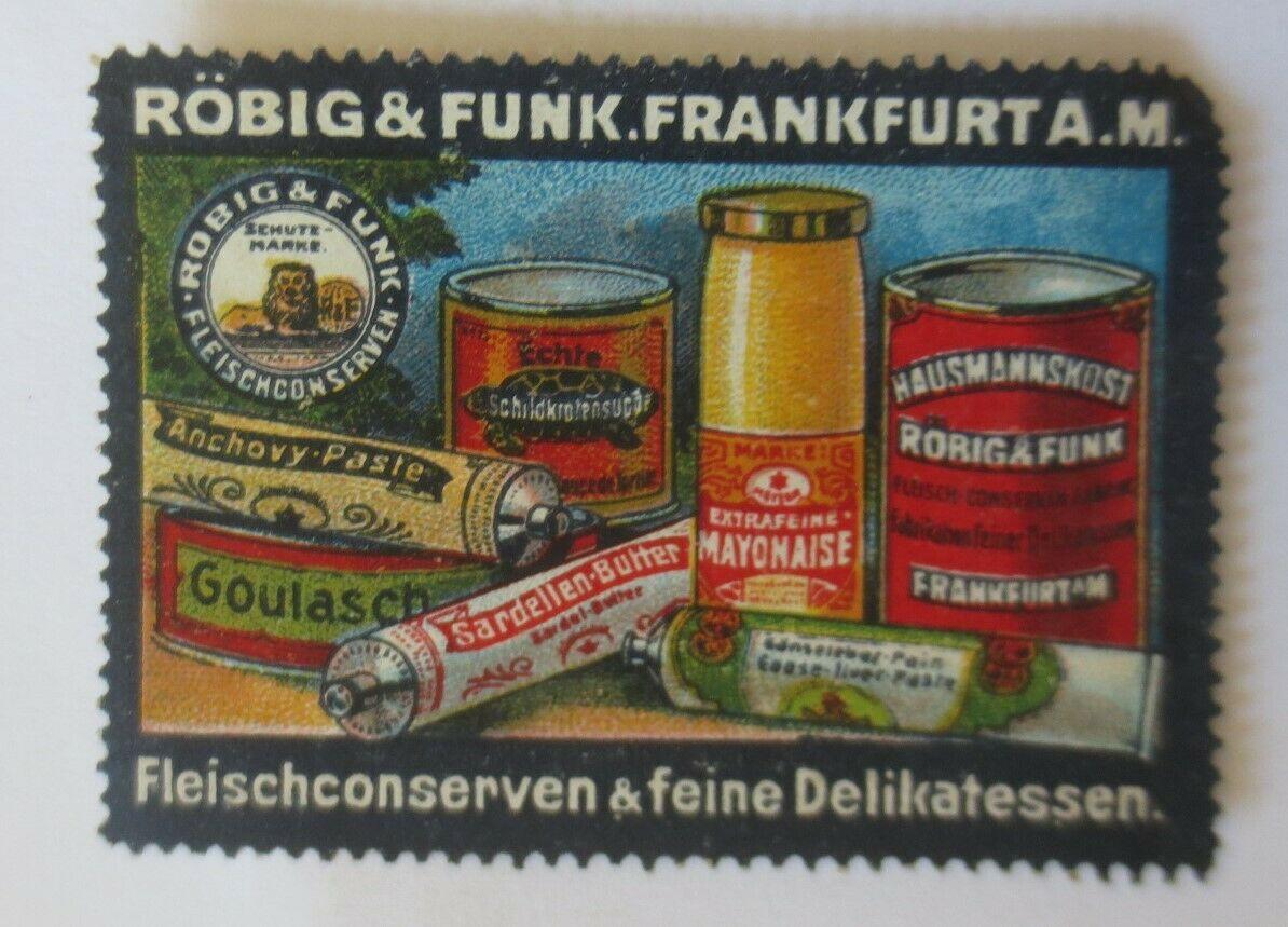 Vignetten  Röbig & Funk Frankfurt A.M. Fleischkonserven & Delikatessen ♥ (28168) 0