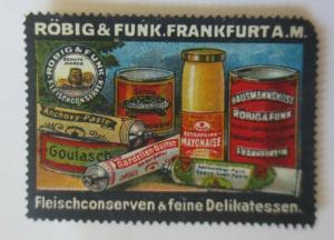 Vignetten  Röbig & Funk Frankfurt A.M. Fleischkonserven & Delikatessen ♥ (28168)