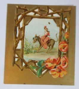 Kaufmannsbilder, Pferde, Frauen, Mode, H. Fraiture Chocolat   1900  ♥