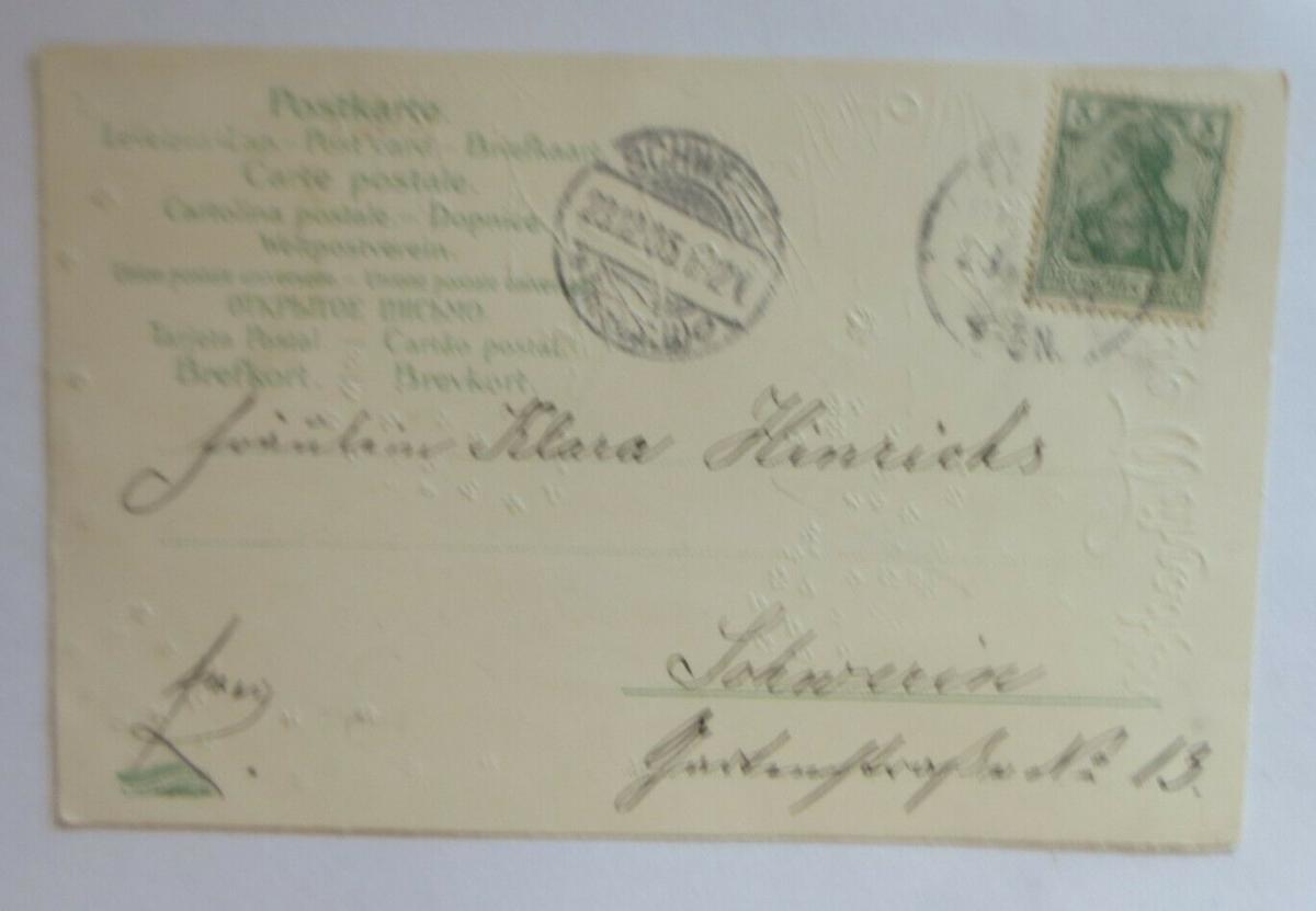 Weihnachten, Engel, Christkind, Weihnachtsbaum,  1905, Golddruck ♥ (41323) 1