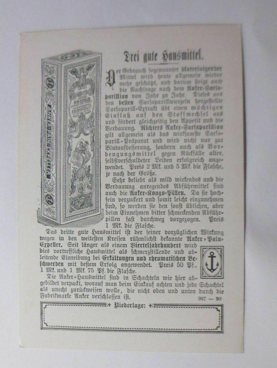 Kaufmannsbilder, Richter Anker Verlag Leipzig, Drei gute Heilmittel ♥ 1