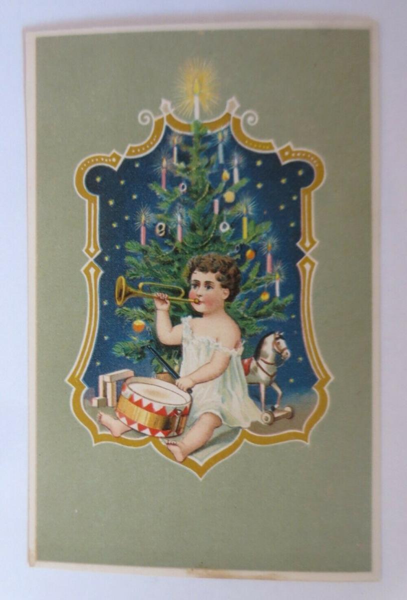 Weihnachten, Kinder, Mode, Spielzeug, Schaukelpferd,  1908 ♥ (39976) 0