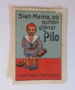 Vignetten  Schuh Creme Pilo Adolf Krebs Mannheim 1900 ♥ (69064)