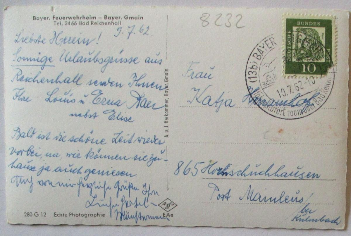 Bayr. Gmain Feuerwehrheim 1962 (3492) 1