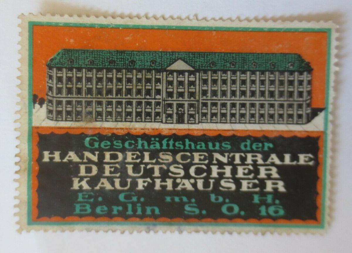 Vignetten  Handelszentrale  Deutsche Kaufhäuser Berlin  ♥ (27473) 0