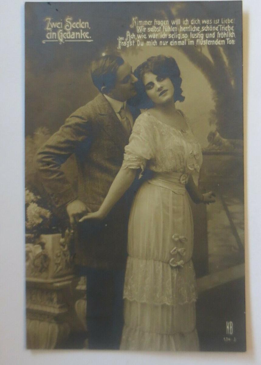 Frauen, Männer, Mode, Zwei Seelen ein Gedanke,  1911 ♥ (35932) 0