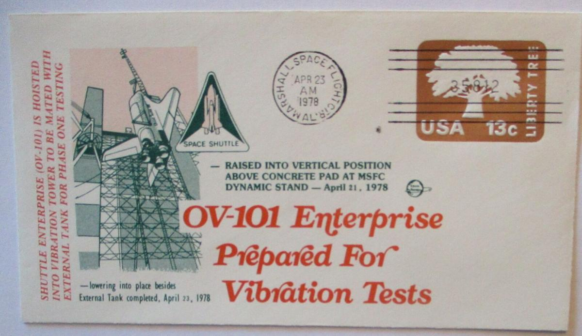 Raumfahrt USA NASA Space Shuttle Enterprise Vibration Test 1978 (71314) 0