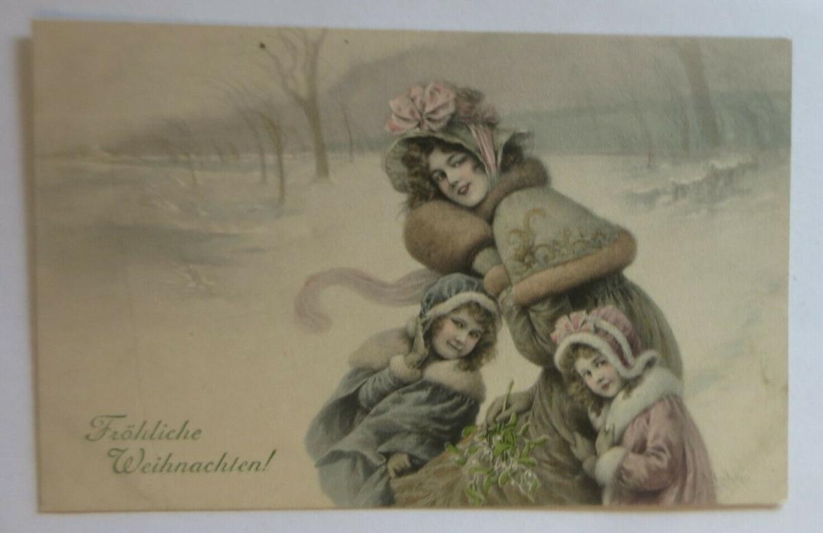 Weihnachten, Frauen, Kinder, Mode, Muff,  1908, Munk Vienne ♥ (27829) 0