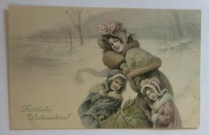 Weihnachten, Frauen, Kinder, Mode, Muff,  1908, Munk Vienne ♥ (27829)