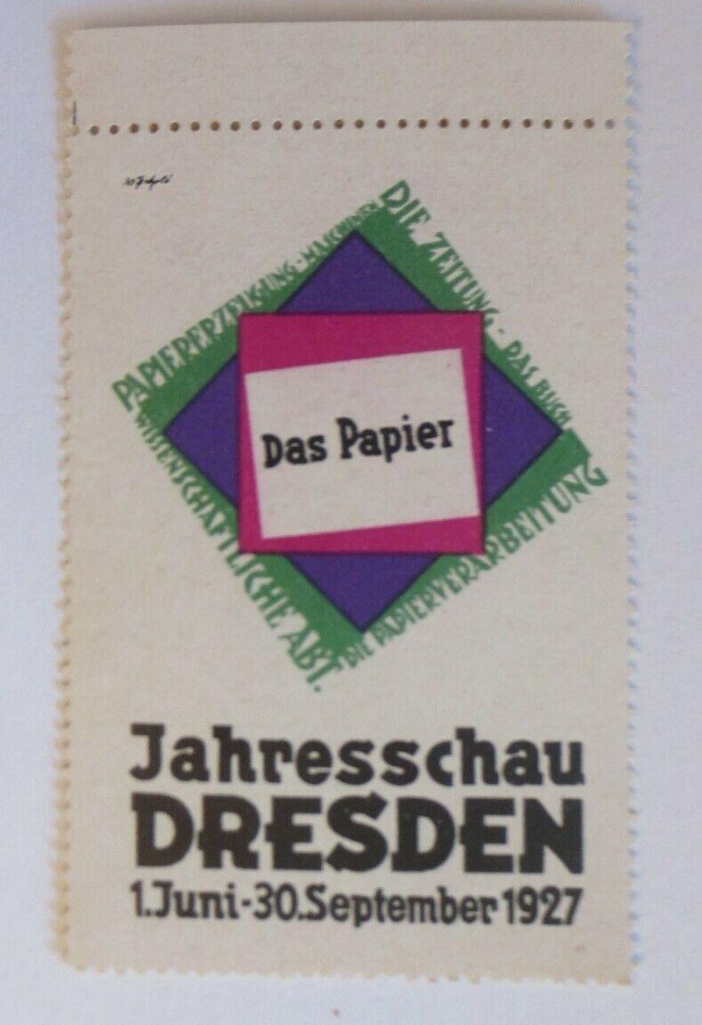 Vignetten Das Papier Jahresschau Dresden 1927  ♥ (21586) 0